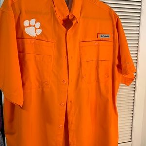 COLUMBIA clemson men's shirt M